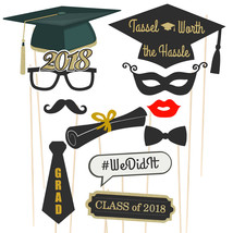 38 Piece 2019 Graduation Photo Booth Props - $18.41