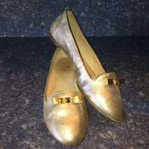 Kate Spade Metallic Gold Leather TREAT Ballet Flat, Style#51, Size 10m-Excellent - $69.00