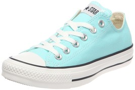 CONVERSE Chuck Taylor All Star OX Low sz 10 Beach Glass Blue White 130118F - $49.99