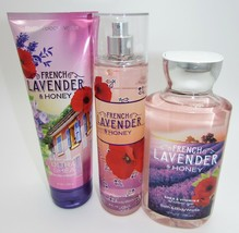 Bath & Body Works French Lavender & Honey Mist Spray Cream Shower Gel 3 ... - $29.00