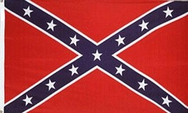 Civil War 3 x 5' Red/Blue/White Polyester/cotton Flag w/free shipping - $25.00