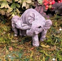 1 Set Miniature Garden Big And Little Elephants - DL - $34.00