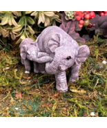 1 Set Miniature Garden Big And Little Elephants - DL - $34.00