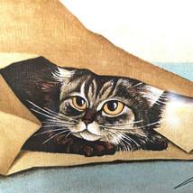 Vintage Lowell Herrero Cat Tile Brown Paper Bag Wall Hanging Vandor Japa... - $27.72