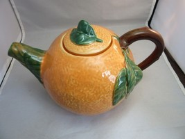 Orange pekoe tea pot. Neuwirth pottery. Portugal - $14.99