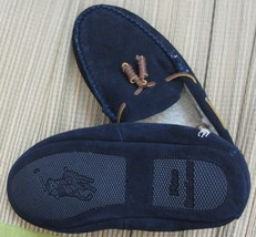 POLO RALPH LAUREN BLUE LABEL MEN'S SUEDE/SHEARLING SLIPPERS SIZE 9 & 10 ... - $214.79 CAD
