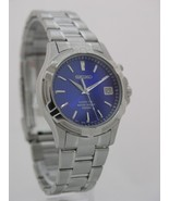 Seiko watch mens watches stainless steel kinetic blue dial movement 5M62... - $282.15