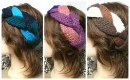 Wholesale Lot 3 Tri-Color Twist Crochet Knit Headbands   - $6.51