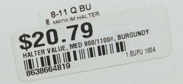 Valhoma 811QBU Burgundy Medium Horse Halter Eight to Eleven Hundred Pounds image 6