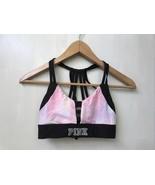 PINK Victorias Secret Ultimate Black Pink Tie Dye Unlined Strappy Bralet... - $18.95