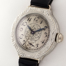 Elgin 14k White Gold Fancy Women's Hand-Winding Dress Watch w/ Leather Band - $1,259.04