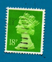 1991 Used Great Britain Stamp -  18p - Queen Elizabeth II - Scott #MH104 - $1.99