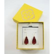 Kendra Scott Carla Berry Glass Gold Tone Large Drop Earrings NWT - $68.81