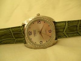 Embassy by Gruen Green & Silver Toned Wristwatch w/ Adjustable Buckle Band - $29.00