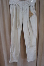 Grane Junior Pants Sz 9 Beige Khaki Belted Straight Leg Pleated Casual S... - $29.62