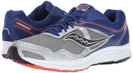 Saucony Uomo Argento Blu Griglia Cohesion 10 Corsa Runners Scarpe Sneaker Nib image 7