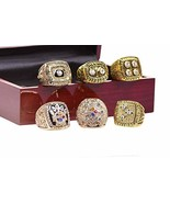A Set of 6 Steelers Championship Replica Ring by Display Box Set - $128.99