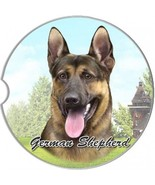 German Shepherd Set Of Two Absorbent Stoneware Car Cup Holder Coaster  D... - $11.99