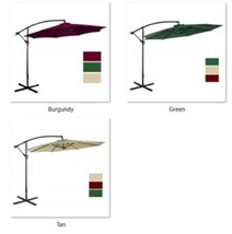Offset 10' Garden Cantilever Patio Umbrella Aluminum Outdoor 8Rib 100% P... - $202.63 CAD