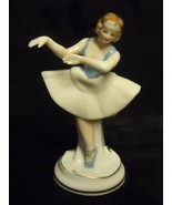 "RARE VINTAGE MARULACE OCCUPIED JAPAN  HAND PAINTED 4"" TALL BALLERINA FIGURINE - $34.65"