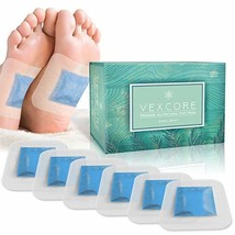 Foot Pads for Cleansing - with Foot Mask - 30 Cool Mint Bamboo Vinegar Feet Patc image 1