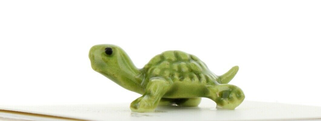 Hagen Renaker Miniature Turtle Green Baby Ceramic Figurine