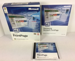 Microsoft FrontPage Version 2002 Upgrade Web Site Creation CD with Key W... - $19.79