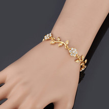 Fashion Women Bracelet Platinum/18K Real Gold Plated Leaf - $24.79