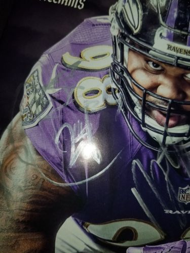 Baltimore Ravens GAME DAY Program Multi Autographs Brandon Carr, Cyrus Jones, Ty image 3