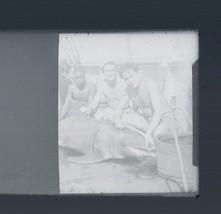 Dolphin Hunting Photo Glass Negative Fishing Boat Men Fishermen Fishing ... - $19.79