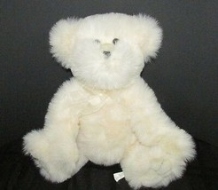"Animal Adventure cream off white plush stuffed teddy bear ribbon neck bow 11.5"" - $13.36"
