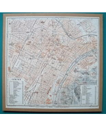 "ITALY Torino Turin City Plan + Railroads - 1931 BAEDEKER MAP 9 x 9 ""  23... - $16.20"