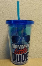 """MOMMY'S LITTLE DUDE"" 10 OZ KIDS TUMBLER CUP W/ STRAW  - $8.86"