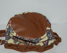 Howards Purse Backpack Set Yellow Multicolor Paisley Type Print Canvas image 5