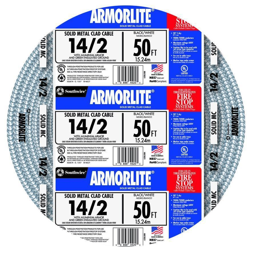 Southwire Armorlite 25 50-ft 12/2 14/2 and 50 similar items