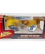 Johnny Lightning 1/64 Head to Head 2 car set 1965 Mustang GT & 2005 Must... - $14.95