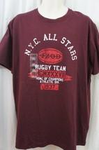 Izod Mens Casual Shirt Sz XL Rusty Gate Red Short Sleeve Graphic Tee Cas... - $14.27