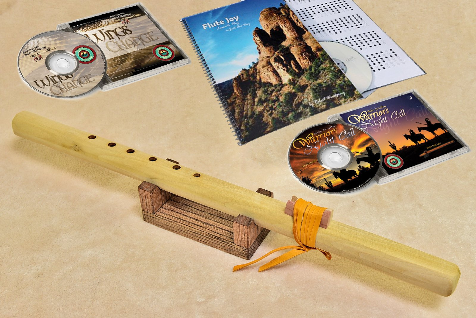 Windpony Unfinished Poplar Flute in the key of F# - Complete Starter Kit