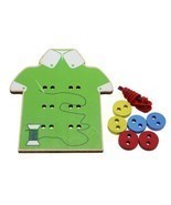 New Children Kids Toddler Sew On Buttons Lacing... - $2.25