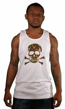 SSUR Controlled Substance Weed Drugs Marijuana Leaf Graphic Skull Tank Top Shirt