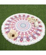 Round Beach Towel Circle Bohemia Bath Mat Hippie Blanket Yoga Picnic Tow... - $29.99