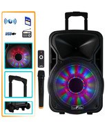 beFree Sound 12 Inch 2500 Watt Bluetooth Rechargeable Portable Party PA ... - $146.80