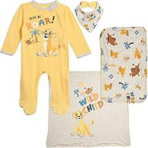 Disney The Lion King Baby Boys Layette Footies Burp Cloth Blanket Bib 0-... - $23.51