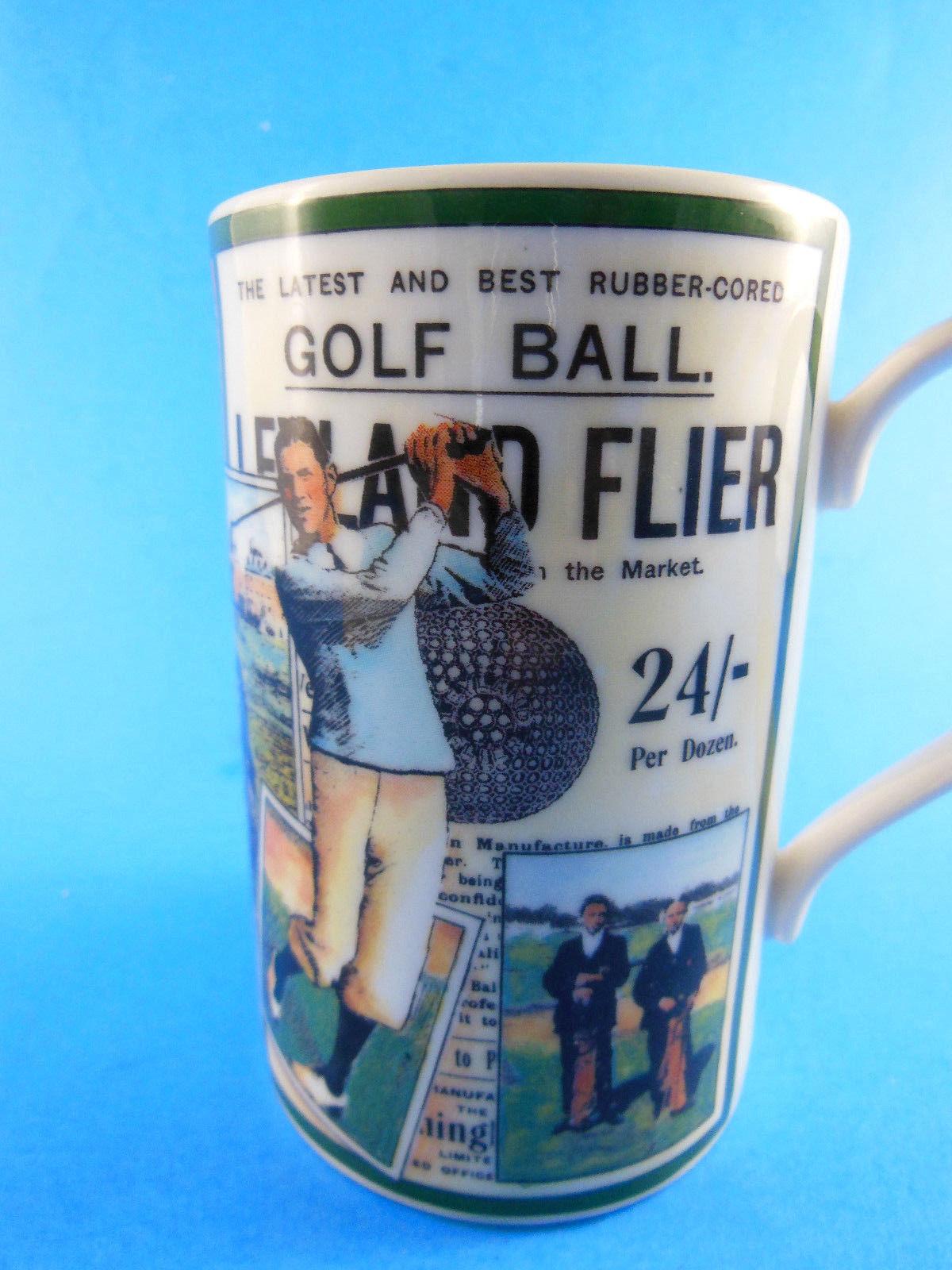 "Golf Dunoon Stoneware Made in Scotland Mug 4.25"" Excellent"
