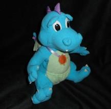 25.4cm Vintage 1999 Playskool Drago Favole Ord Blu Drago Peluche Peluche - $21.87