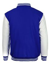New Men's Premium Classic Snap Button Vintage Baseball Letterman Varsity Jacket image 8
