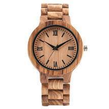 Wooden Watch Nature Full Wood Watch Bamboo Quartz Watches Handmade Clock... - £37.17 GBP