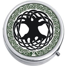 Celtic Tree Medicine Vitamin Compact Pill Box - $9.78