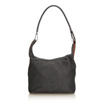 Pre-Loved Gucci Gray Dark Denim Fabric Web Shoulder Bag Italy - $279.57