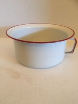 Antique Vintage Enamelware Handled Pot Cup Bowl... - $37.40